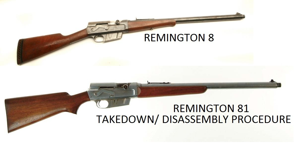 Remington 8 Rfle Service Manuals, Cleaning, Repair Manuals